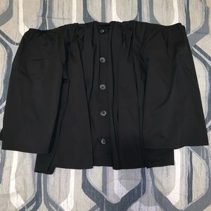 forever 21 off-the-shoulder button top